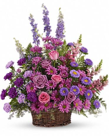 Peaceful Purples Traditional Basket