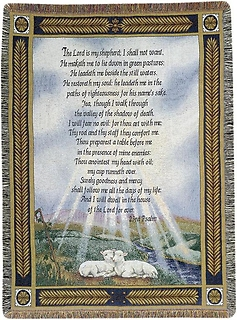 "Afghan - 23rd Psalm - ""The Lord is My Shepherd\"""